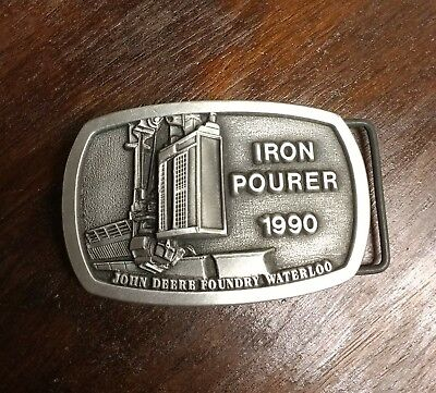 John Deere Foundry Waterloo Iron Pourer 1990 Belt Buckle!