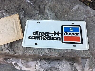 VINTAGE MOPAR DIRECT Connection Original 1970'S License Plate