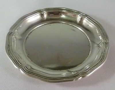 """Continental .835 Silver Queen Anne Style 3.25"""" Butter Pat Great for Doll House!"""