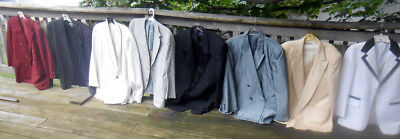 8 Vtg Jackets 1950, 60 & 70's TUXES  GANGSTER Costumes/ Resale/Theater EX COND
