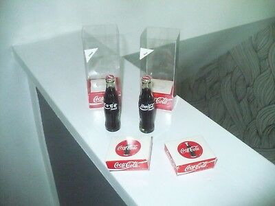 Coca Cola  3/1/2 In  Boxed  Glass Bottles  Russia/china   Two Total   Wow!!!!!