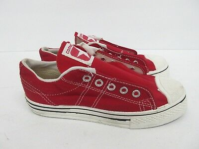 Vintage Retro Converse in Red 60s/70s Kids' Size: 2