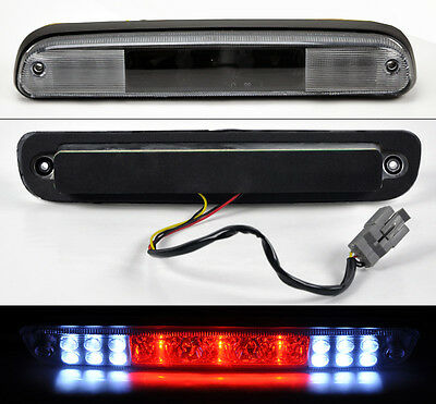 Ford F250 F350 F450 F550 Super Duty 99-14 Rear 3rd LED Stop Brake Light Black
