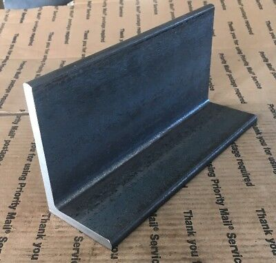 "Steel L Angle Iron 3"" X 5"" X 10"" Long 3/8"" THICK Heavy Duty Bracing Bracket Weld"