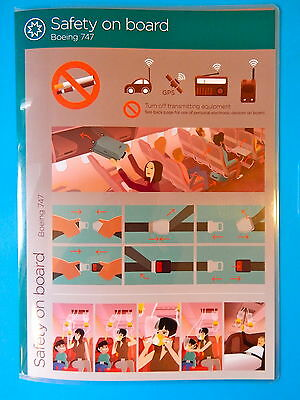 Virgin Atlantic Airlines Safety Card--747-400--New Edition!!!