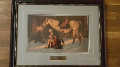 Prayer at Valley Forge  By Arnold Friberg 22x28 Framed COA Lithograph Fine Arts