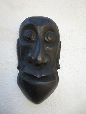 Vintage Mahogany wood Japanese face mask