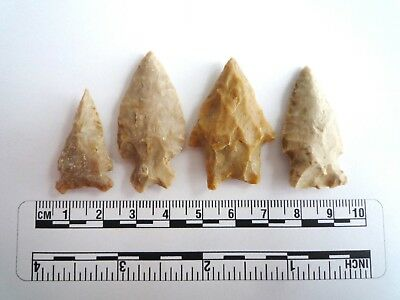Native American Arrowheads, 4 x High Quality Texas Finds 1000BC  (2288)