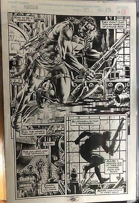 PUNISHER 99 PAGE 13 ORIGINAL ART SIGNED inks by Rudy Nebres- RARE