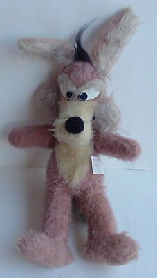"Vintage 1971 Warner Brothers Looney Tunes WILE E COYOTE 18"" Plush Stuffed Animal"