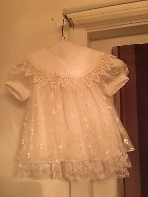 vintage hand sewn baptism gown made in 1990 in mint condition size 3 mos