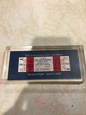 The Astrodome Opening Night Ticket 25Th Anniversary Houston Astros