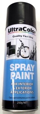 Ultracolor Gloss Black Spray Paint 250G Can - Internal & External Applications