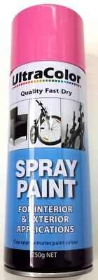 Ultracolor Rose Pink Spray Paint 250G Can - Internal & External Applications