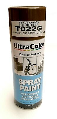Ultracolor Gloss Brown Spray Paint 250G Can - Internal & External Applications