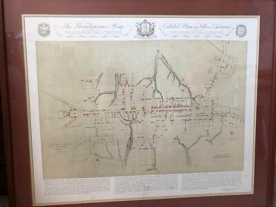 """Colonial Williamsburg """"the Frenchman's Map """" Framed"""