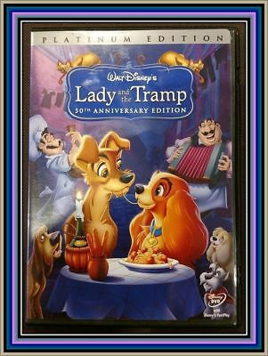 Lady and the Tramp (50th Anniversary/Platinum EDITION DVD,2006)