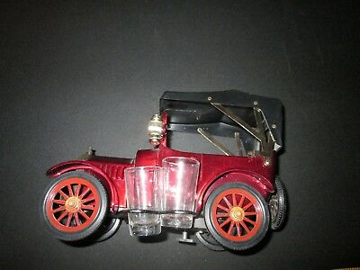 Vintage 1918 Ford Car Musical Liquor Decanter & Shot Glass Set Japan Bar Whiskey