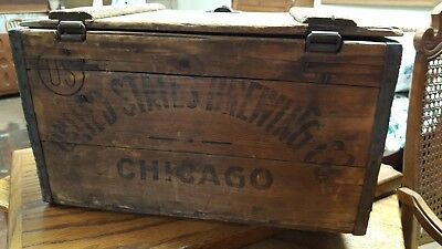 United States Brewing Co Chicago Antique Vtg 20s 30s Wooden Wood Beer Crate Box