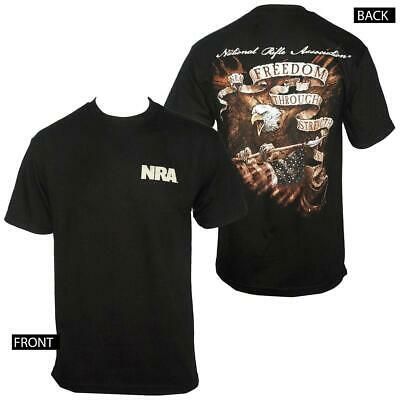 NRA Eagle Freedom through Strength t-shirt Black S, 3X NWT Officially Licensed