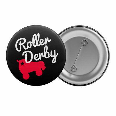 "Roller Derby Skate Badge Button Pin 1.25"" 32mm"