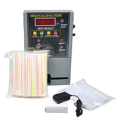 Professional Coin Operated Alcohol Tester Breathalyzer Machine for Bar Hotel