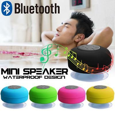Waterproof Wireless Bluetooth Handsfree Mic Suction Speaker Shower Bathroom IPX4