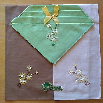 3 Vintage cotton hankerchiefs (Made in Ireland)
