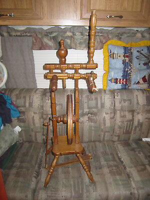 JUST REDUCED TO SELL small antique miny spinning wheel rare