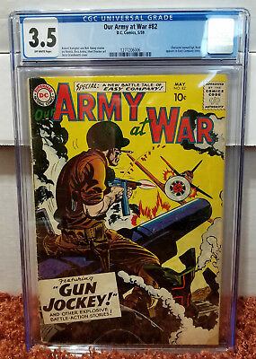 Our Army at War #82 (1959, DC) CGC 3.5 VG- Sgt. Rock Easy Company Story Pre-#83