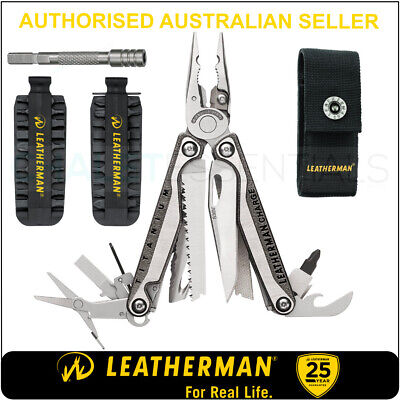 Leatherman CHARGE TTI PLUS +MultiTool +Sheath +Bits+Ext + Rescue Tool