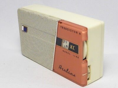 1959 Airline 1130A  (Sharp) AM radio new capacitors, loud