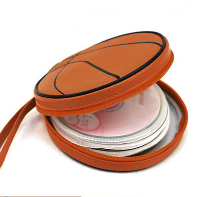 Basketball CD Package Storage Basketball Pattern Zippered Round Case