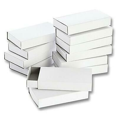 Folia White Cardboard Match Boxes - 12pcs Large #2407