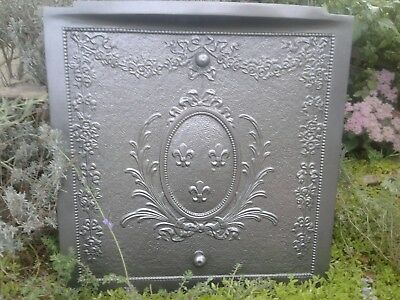 Antique Victorian Cast Iron Summer Fireplace Cover