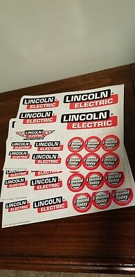 Lincoln Electric Welding Decal/Sticker Sheets Welding Motorsports 3 Sheets
