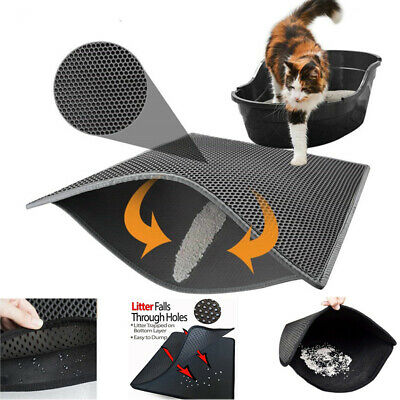 Waterproof Double-Layer Cat Litter Mat Pet Trapper Dirt Catcher Pad