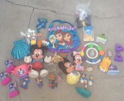 Large Lot Of Vintage Disney Small/miniature Toys-See All Photos