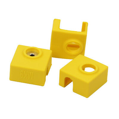 3pcs SILICONE SOCK HEATER BLOCK COVER FOR 3D PRINTER MK7 MK8 HEATED EXTRUDER FAD