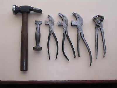 Cobblers / Leather Workers, Vintage Old Tool Kit. Hammers, Pliers & Pinchers.