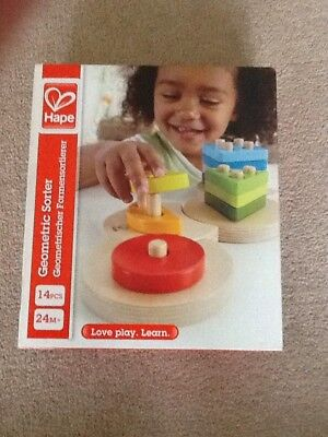 Hape Toys Geometric Sorting Board Puzzle BRAND NEW RRP £19.99
