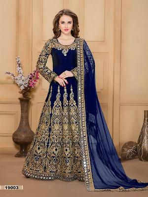 Indian anarkali salwar kameez suit designer pakistani bollywood ethnic wedding c