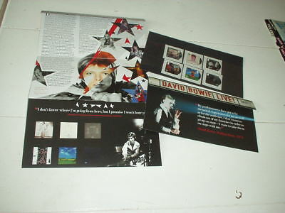 David Bowie official anniversary stamp collection