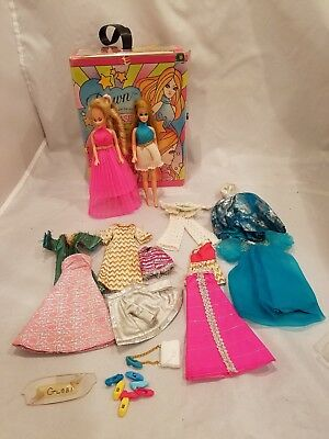 """77"""" Topper Dawn & Remco Jeannie w/2nd Release Single Case, Extra Outfits & Shoes"""