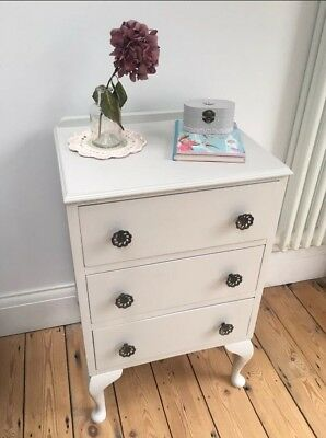 Stunning Shabby Chic Antique Vintage Bedside Cabinet / Table in Farrow & Ball