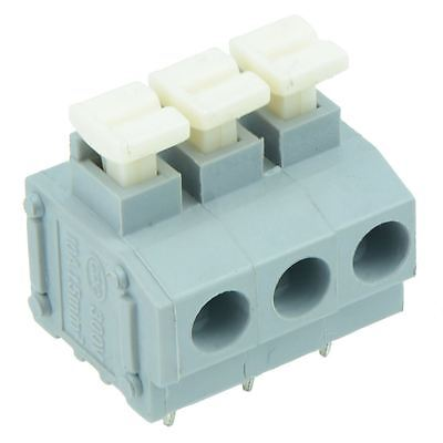 10 x 3-Way Screwless 5.00mm Terminal Block