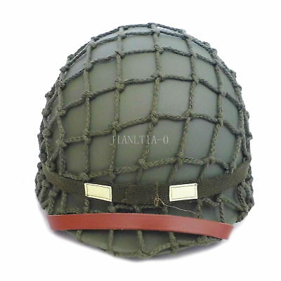 Reproduction Replica Steel US MILITARY WW2  M1 Steel Helmet with COVER STRAP