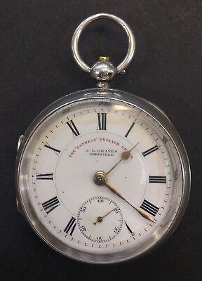 """Vintage The """"Express"""" English Lever, J.G.Graves Sheffield Pocket Watch"""