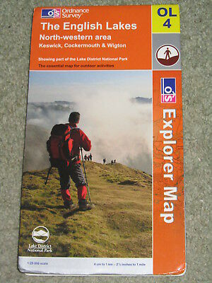 OS Ordnance Survey Explorer 1:25,000 - Sheet OL4 The English Lakes - North-west