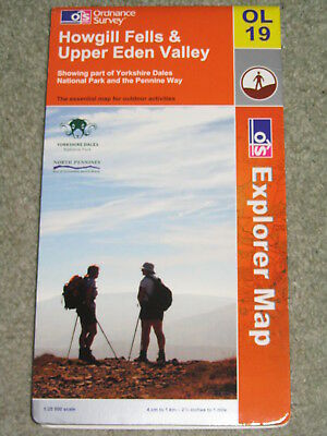 OS Ordnance Survey Explorer 1:25,000 - Sheet OL19 Howgill Fells & U Eden Valley